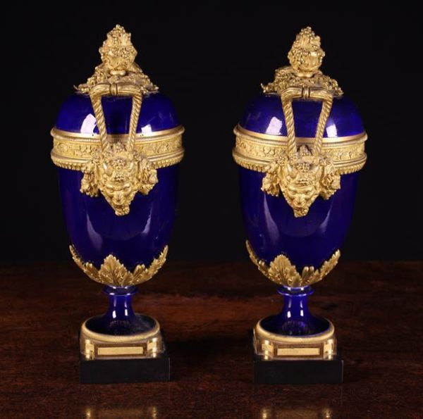 Sèvres Style Porcelain Garniture Urns