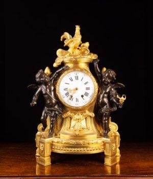 Gilt Bronze Mantel Clock | Fine Furniture