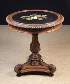 19th Century Carved Centre Pedestal Table | Fine Furniture