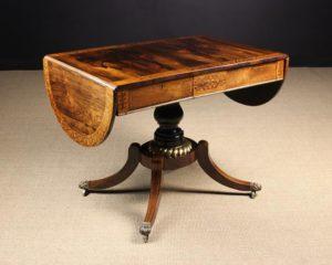 Inlaid Rosewood Centre Pedestal Sofa Table | Fine Furniture