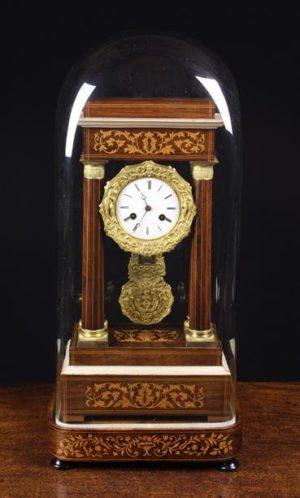 Inlaid Rosewood Portico Clock | Fine Furniture