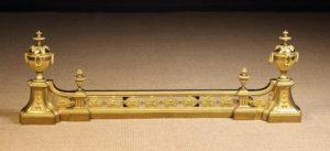 Louis XVI Style Gilt Brass Fire Fender | Fine Furniture