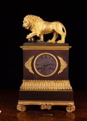 French Empire Bronze & Gilt Bronze Clock | Fine Furniture