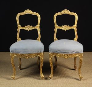 Carved & Gessoed Giltwood Chairs | Fine Furniture