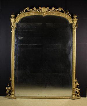 Gilt Overmantel Mirror | Fine Furniture