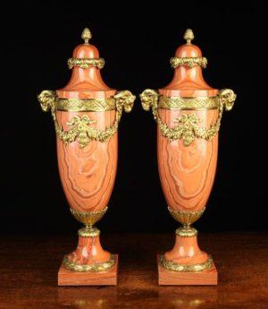 Marble & Gilt Bronze Cassolettes | Fine Furniture