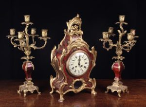 Napoleon III Style Boulle-work Clock Set | Fine Furniture