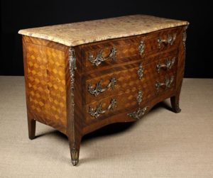 Louis XV Style Parquetry Veneered Commode | Fine Furniture