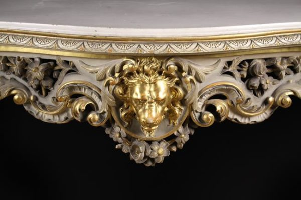 Carved & Painted Giltwood Console Table