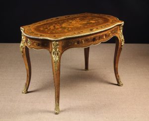 19th Century Marquetry Centre Table